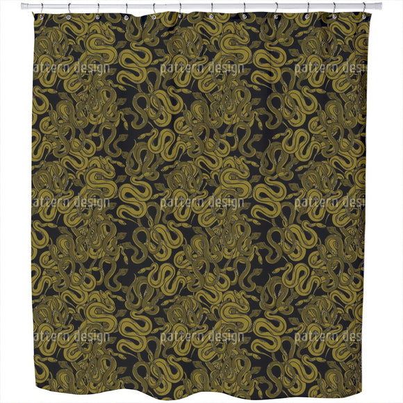 The Snake Pit Shower Curtain