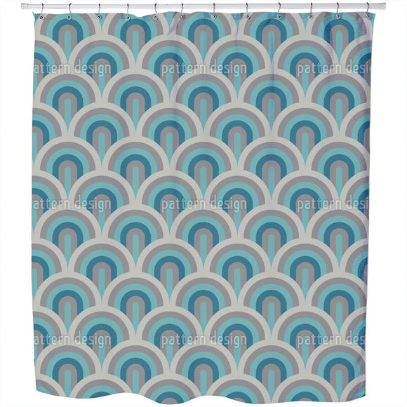 Art Deco Scales Shower Curtain