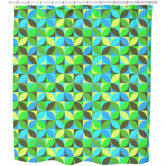 Roller Grid Shower Curtain