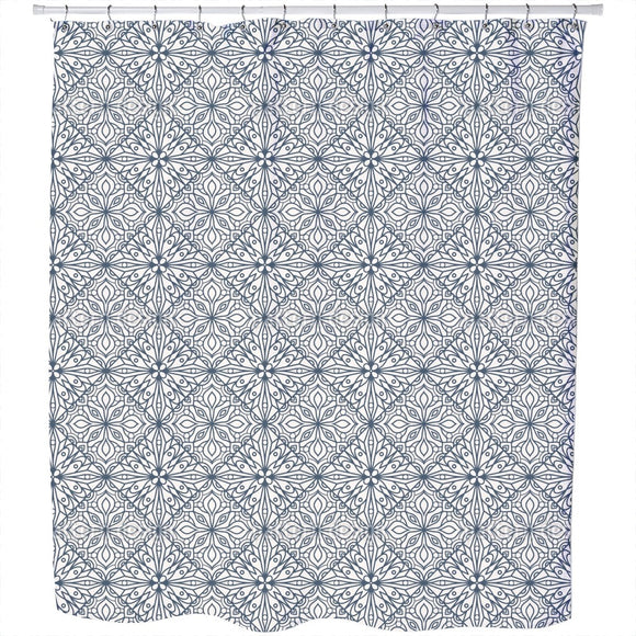 Floral Country Tiles Shower Curtain