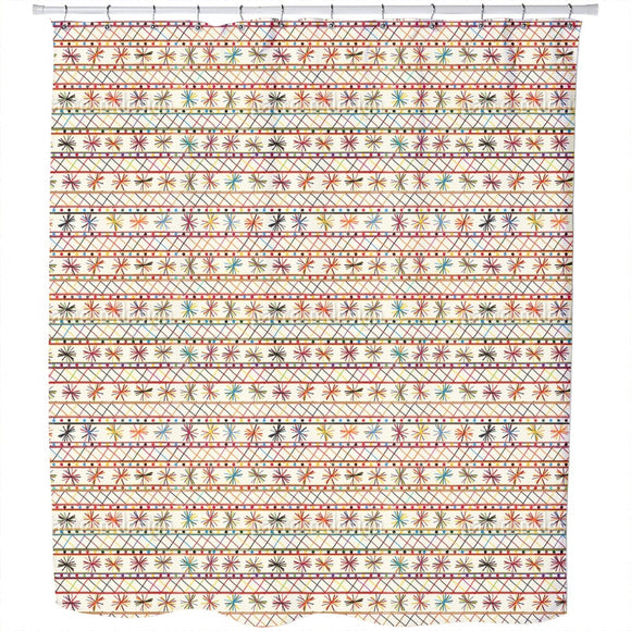 Cheerful Tribal Shower Curtain