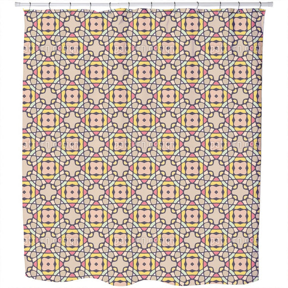 Kaleidoscopic Tiles Shower Curtain