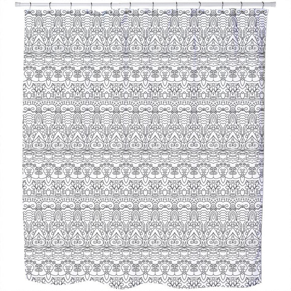 Lined Oriental Bordures Shower Curtain