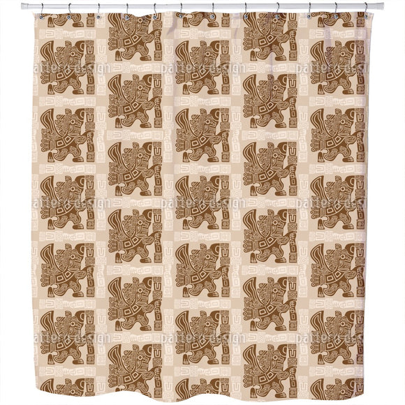 Aztec Eagle Warrior Shower Curtain
