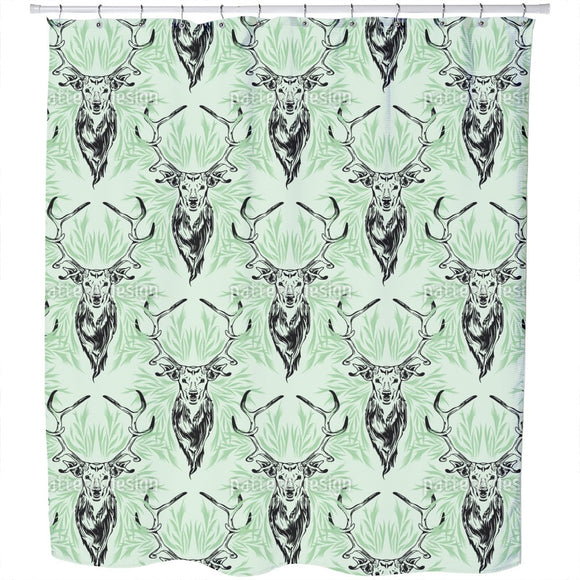 Deer Portrait Shower Curtain