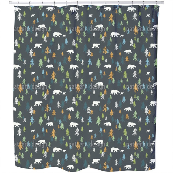 Bears In The Forest Shower Curtain
