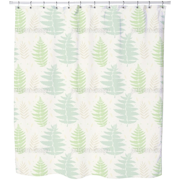Wild Fern Shower Curtain