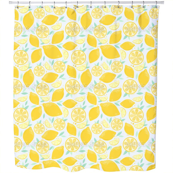 Fresh And Juicy Lemons Shower Curtain