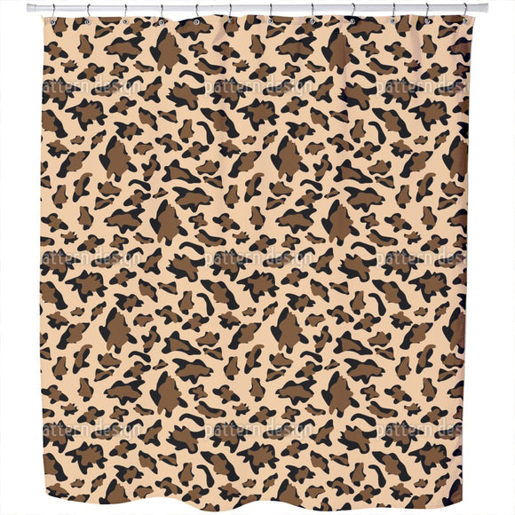Leopard Camouflage Shower Curtain