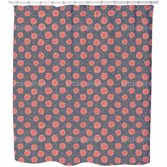 Scandi Pomegranate Shower Curtain