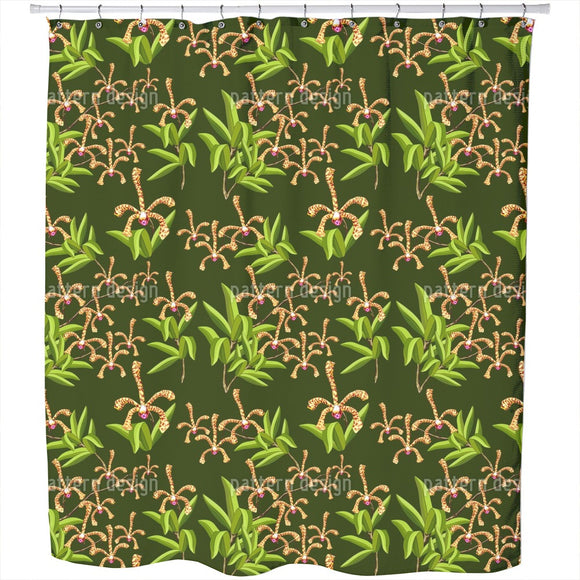 Scorpion Orchids Shower Curtain