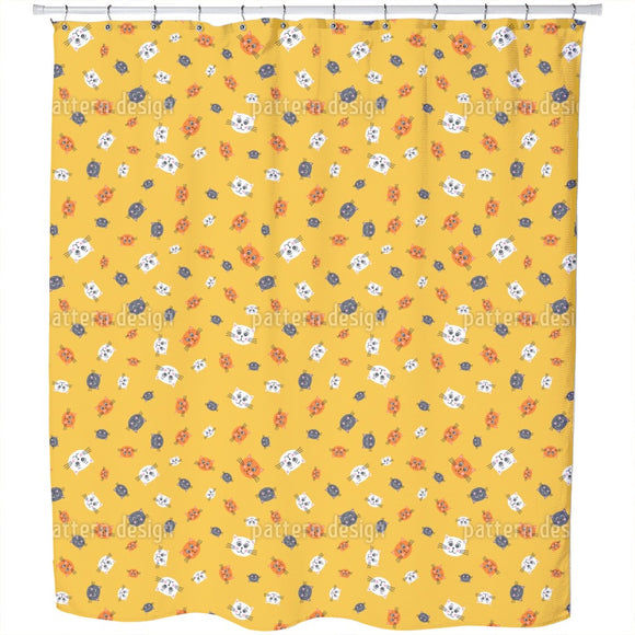 Friendly Cats Shower Curtain
