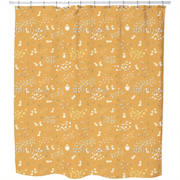 Funny Ducklings Shower Curtain