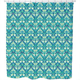 Asian Ikat Damask Shower Curtain