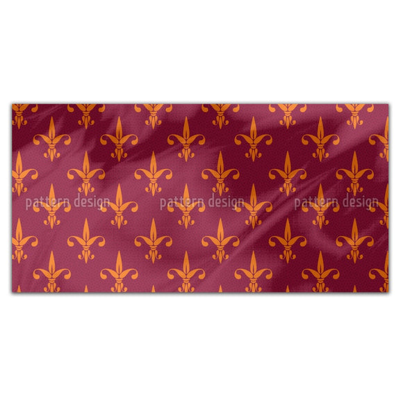 Fiery Fleur De Lis Rectangle Tablecloths