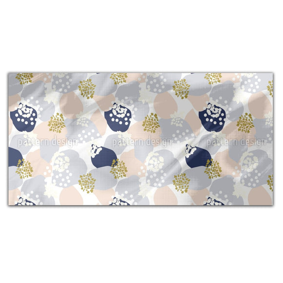 Abstract Hydrangea Flowers And Leaves Rectangle Tablecloths