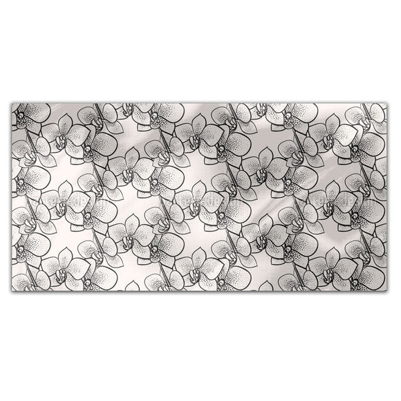 Stylized Orchids Rectangle Tablecloths