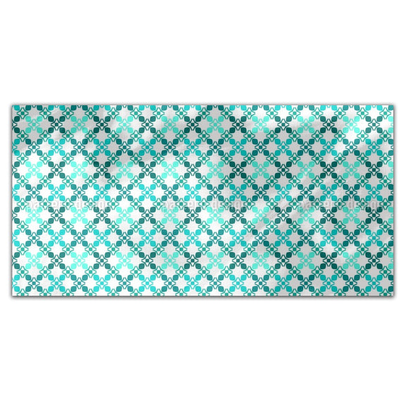 Edged Grid Rectangle Tablecloths