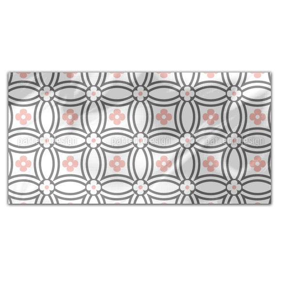 Circle Flower Rectangle Tablecloths