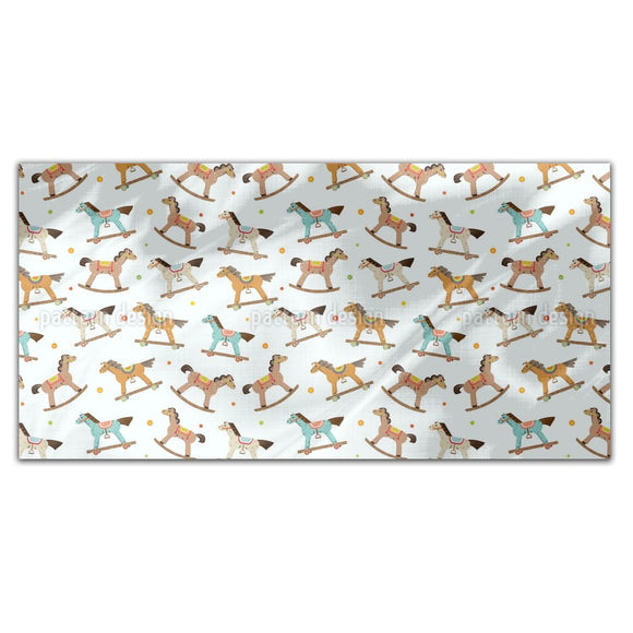 Wooden Horses Parade Rectangle Tablecloths