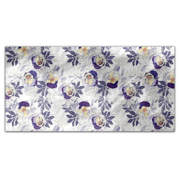 Romantic Pansies Rectangle Tablecloths