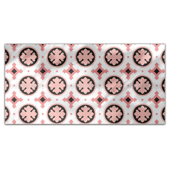 Stylized Leaf Tile Rectangle Tablecloths