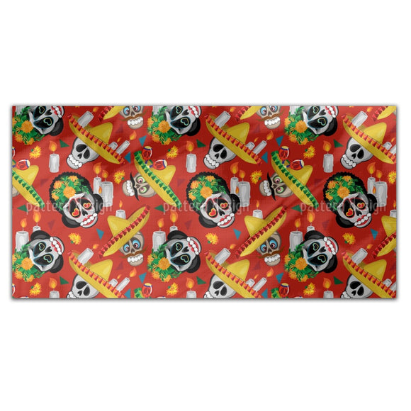 Skull And Sombrero Rectangle Tablecloths