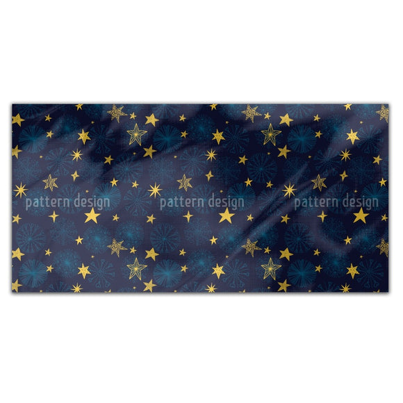 Snowflakes And Stars Rectangle Tablecloths
