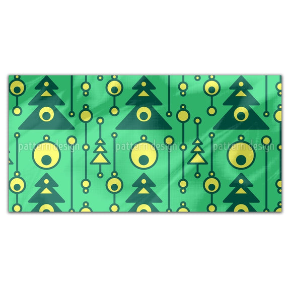 Modernist Christmas Tree Rectangle Tablecloths