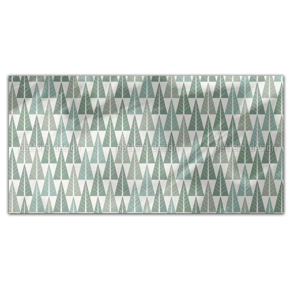 Stylized Winter Forest Rectangle Tablecloths