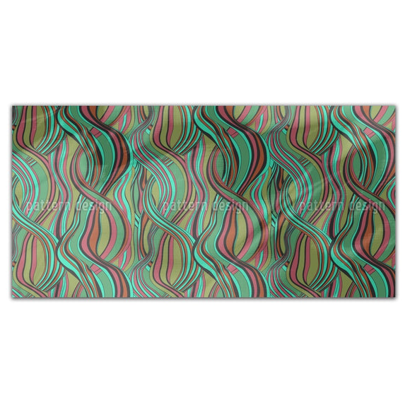 Hair Line Abstract Rectangle Tablecloths
