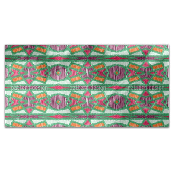 Ikat Symmetry Rectangle Tablecloths