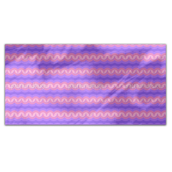 Embossed Waves Rectangle Tablecloths