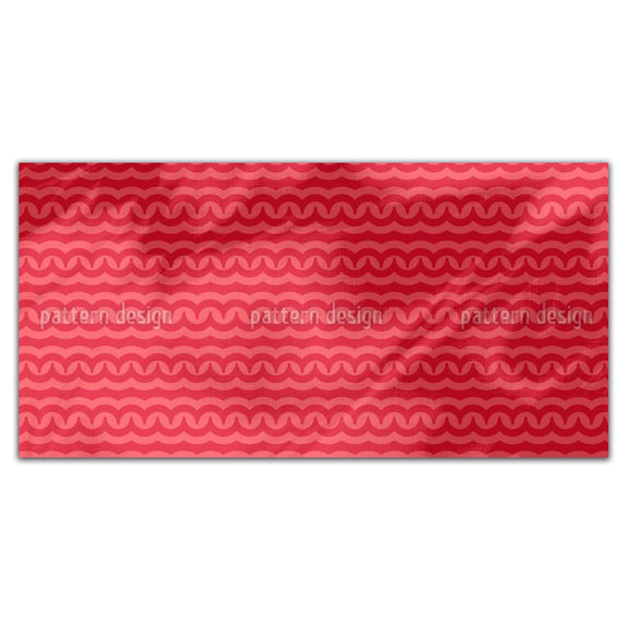 Magma Waves Rectangle Tablecloths