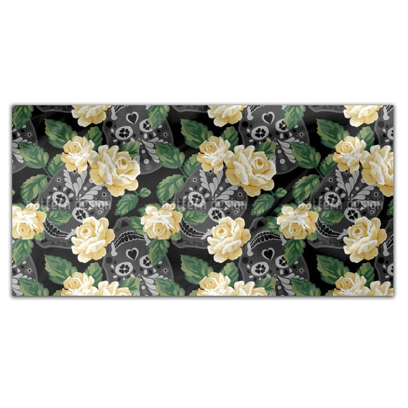 Floral Skull Rectangle Tablecloths