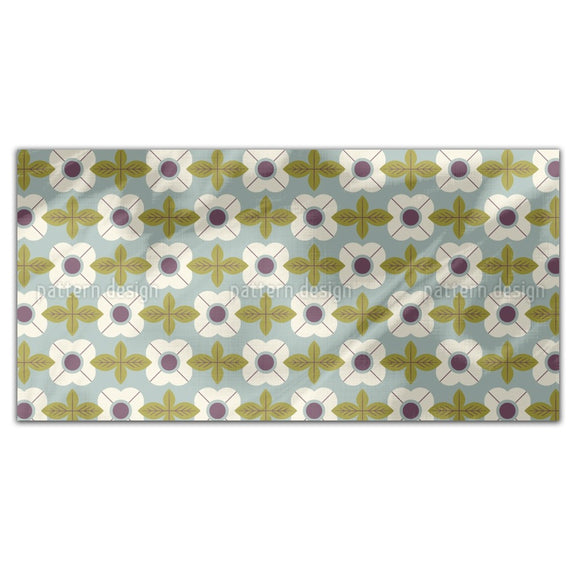 Flowers In Retro Style Rectangle Tablecloths