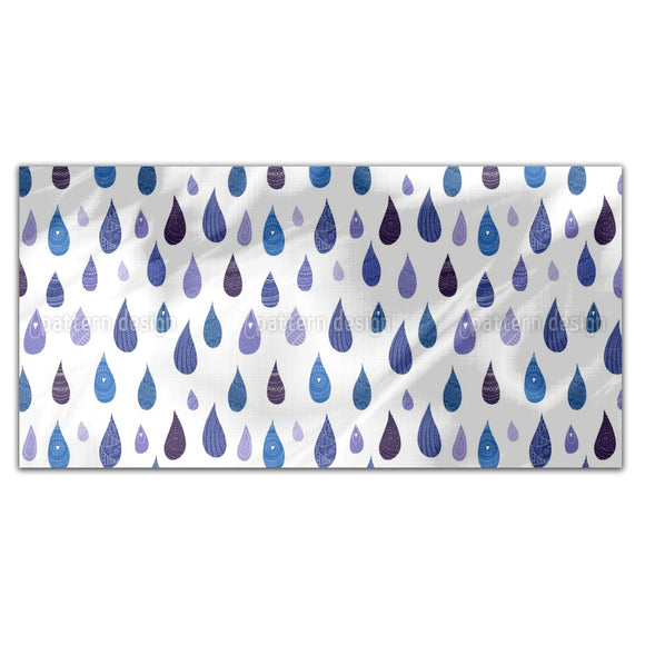 Decorated Drops Rectangle Tablecloths