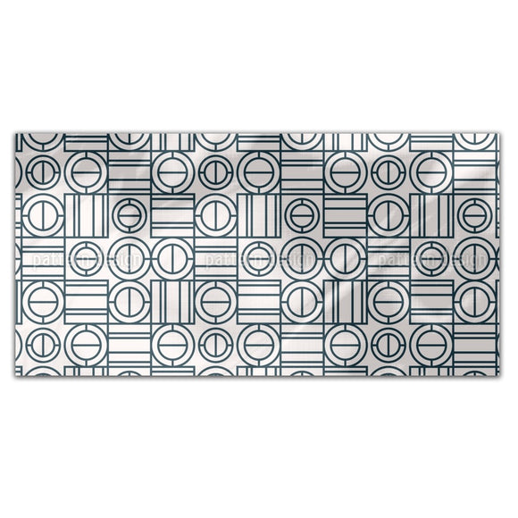 Geometric Game Rectangle Tablecloths