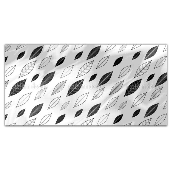 Diagonal Leaves Rectangle Tablecloths