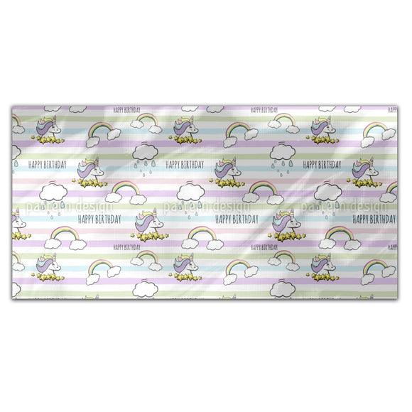 Birthday Unicorn Rectangle Tablecloths