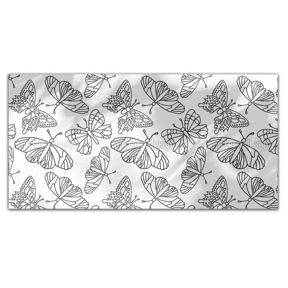 Outlined Butterflies Rectangle Tablecloths