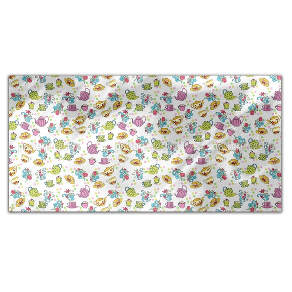 Tea Party Utensils Rectangle Tablecloths