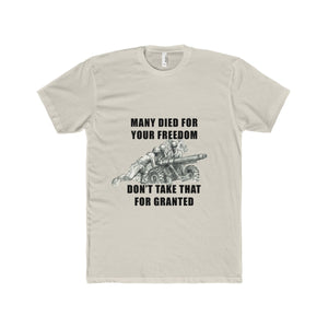 Many Died For Your Freedom Light Colored T-Shirt Men's Premium Fit