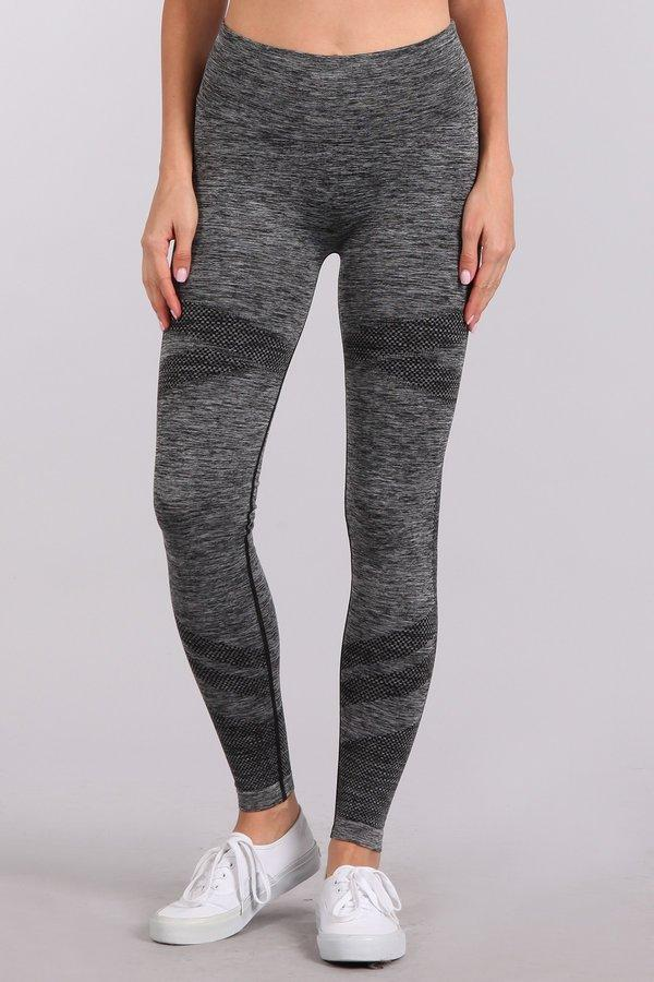 Asymmetrical Stripes Long Legging Pants