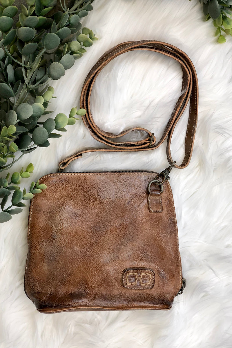 Ventura Handbag - Tan Rustic Genuine Leather