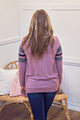 Fleece Baseball Sweater - Berry