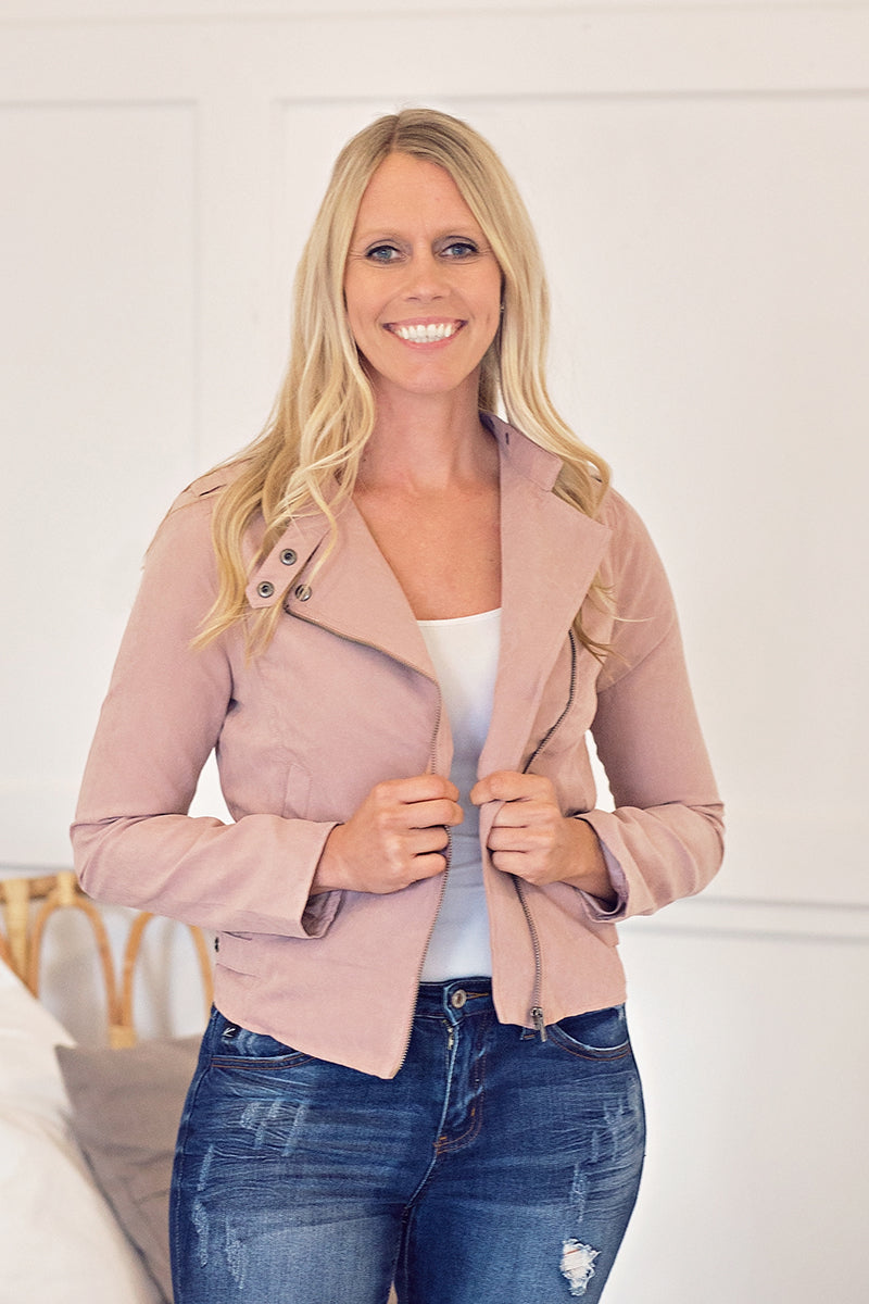 Blush Motto Jacket