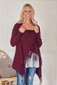 Burgundy Cardigan Wrap