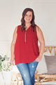 Burgundy Zipper Tank