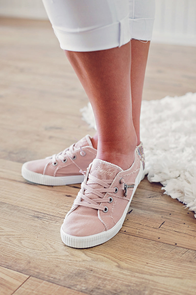 Dirty Pink Zipper Sneaker